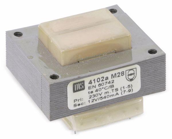 Printtrafo MS 4102a, 12 V, 540 mA - Produktbild 1