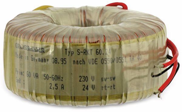 Ringkerntrafo S-RKT 60.24, 24 V~/2,5 A - Produktbild 1