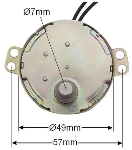 Synchron-Getriebemotor TDY-230, 230 V~, 4 W, 8 U/min - Produktbild 2