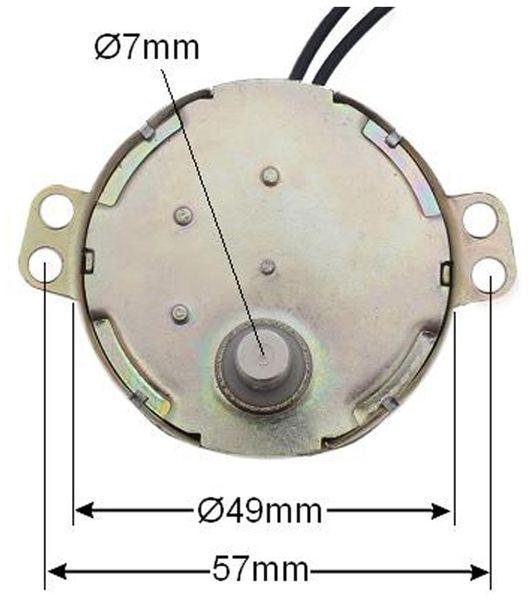 Synchron-Getriebemotor TDY-230, 230 V~, 4 W, 60 U/min - Produktbild 2