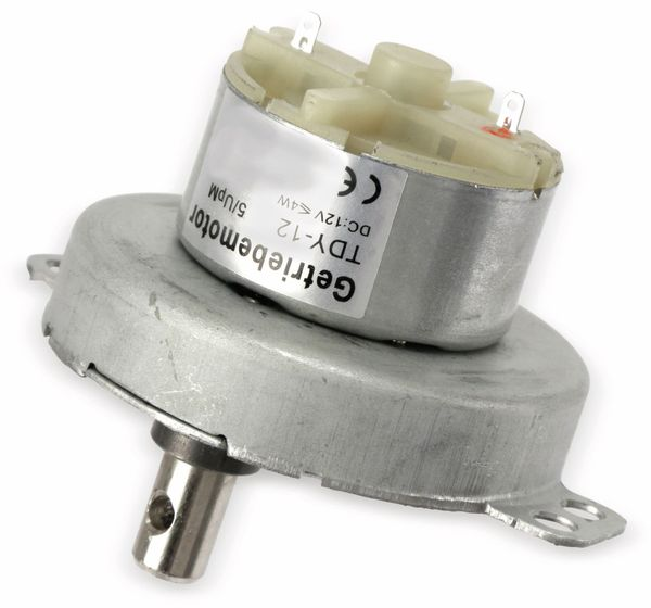 Gleichstrom-Getriebemotor TDY-12, 12 V-, 0,18 A, 5 U/min - Produktbild 4