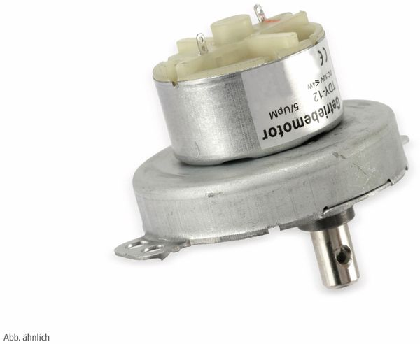 Gleichstrom-Getriebemotor TDY-12, 12 V-, 0,18 A, 8 U/min - Produktbild 3
