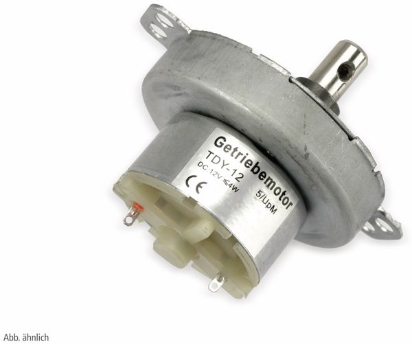 Gleichstrom-Getriebemotor TDY-12, 12 V-, 0,18 A, 15 U/min - Produktbild 2