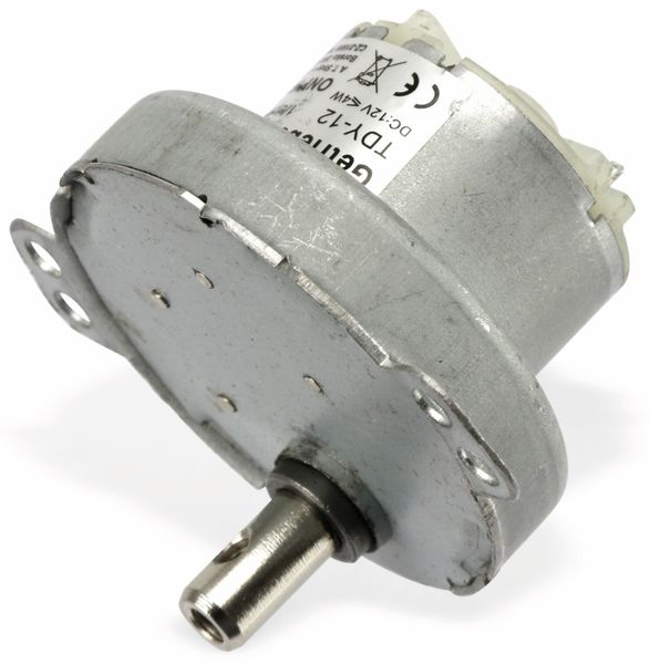 Gleichstrom-Getriebemotor TDY-12, 12 V-, 0,18 A, 1 U/min - Produktbild 3