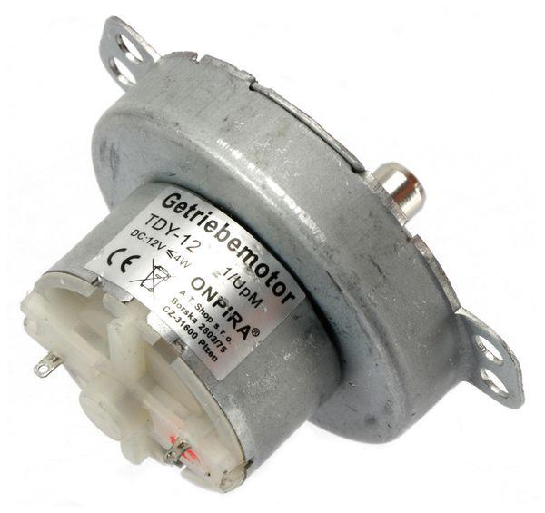Gleichstrom-Getriebemotor TDY-12, 12 V-, 0,18 A, 80 U/min