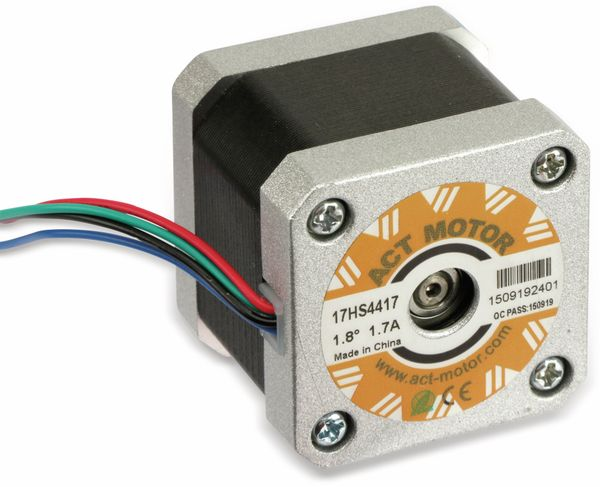 Schrittmotor ACT 17HS4417 1,8°, 2 Phasen, 2,55 V - Produktbild 2