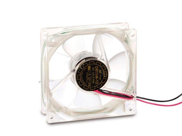 PC-Gehäuselüfter mit blauer LED-Beleuchtung, 80x80x25 mm, 12 V- - Produktbild 1