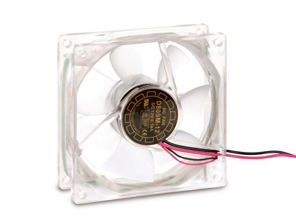 PC-Gehäuselüfter mit 3-farbiger LED-Beleuchtung, 80x80x25 mm, 12 V- - Produktbild 1