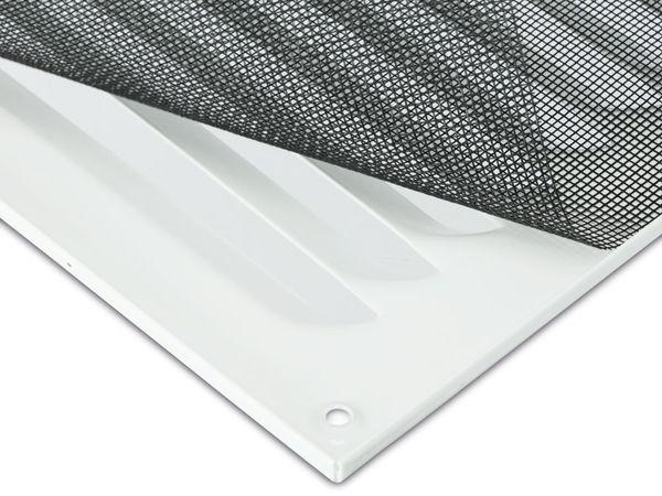 Lüftungsgitter mit Insektenschutz, rechteckig, weiß - Produktbild 2