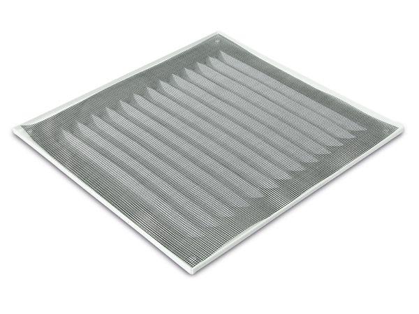 Lüftungsgitter mit Insektenschutz, rechteckig, weiß - Produktbild 3