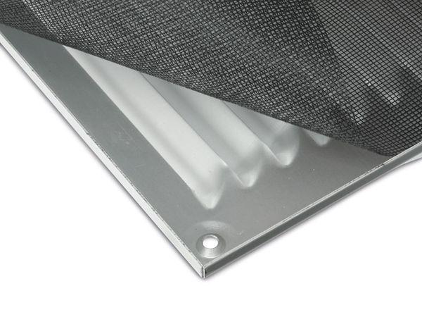 Lüftungsgitter mit Insektenschutz, rechteckig, silber - Produktbild 2