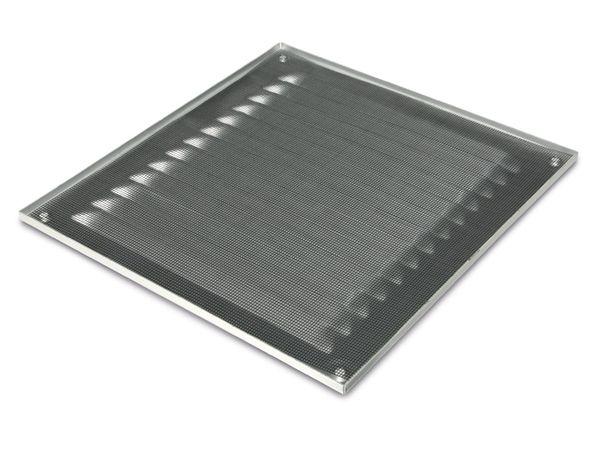 Lüftungsgitter mit Insektenschutz, rechteckig, silber - Produktbild 3