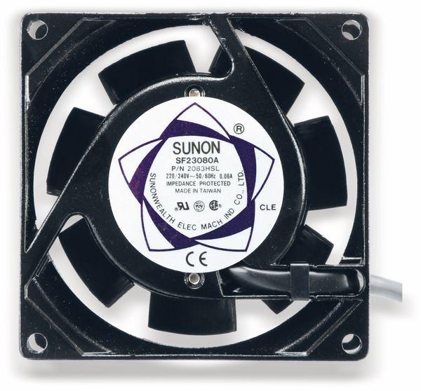 Axiallüfter SUNON SF23080A2083HSL, 80x80x38 mm, 230 V~ - Produktbild 2