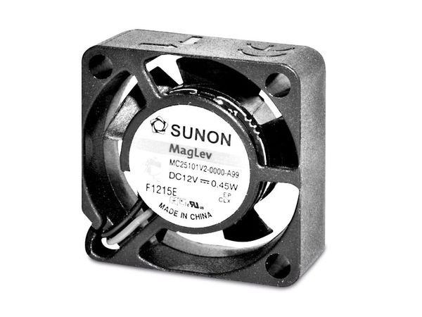 Axiallüfter SUNON MC25101V2-A99, 25x25x10 mm, 12 V-