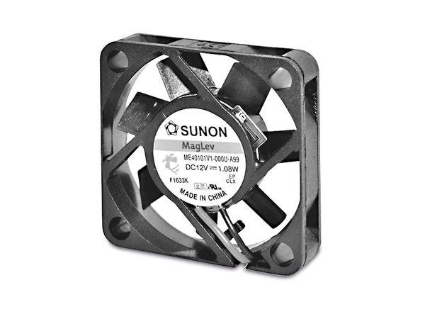 Axiallüfter SUNON MF40101V11000UA99, 40x40x10 mm, 12 V-