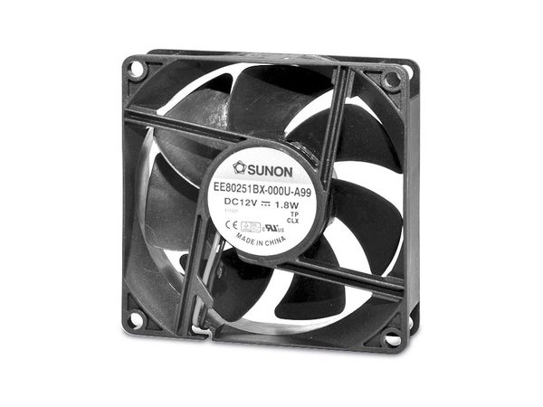 Axiallüfter SUNON EE80251S1-A99, 80x80x25 mm, 12 V-