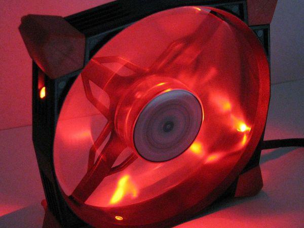 PC-Lüfter COBANITROX N-120-R, LED-Beleuchtung, 120x120x25 mm, 12 V- - Produktbild 3