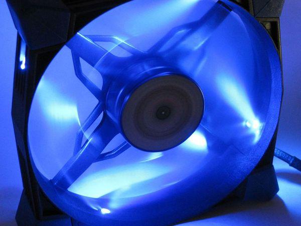 PC-Lüfter COBANITROX N-120-B, LED-Beleuchtung, 120x120x25 mm, 12 V- - Produktbild 3