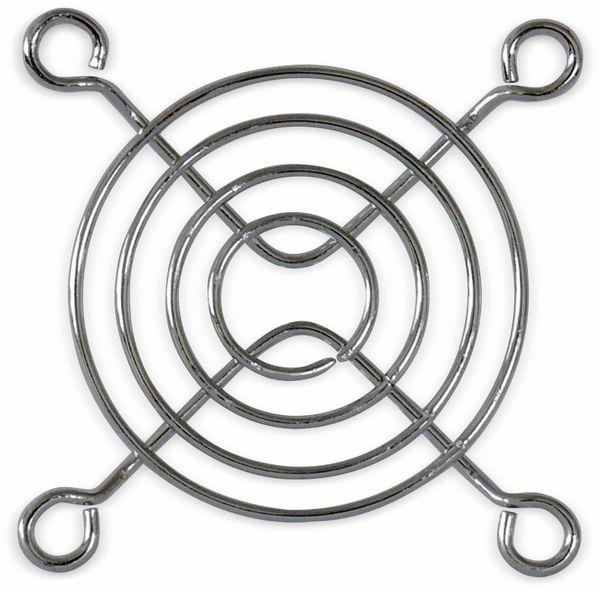 Lüftergitter 60x60 mm, Metall verchromt