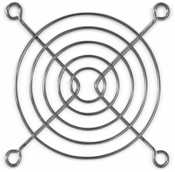 Lüftergitter 80x80 mm, Metall verchromt