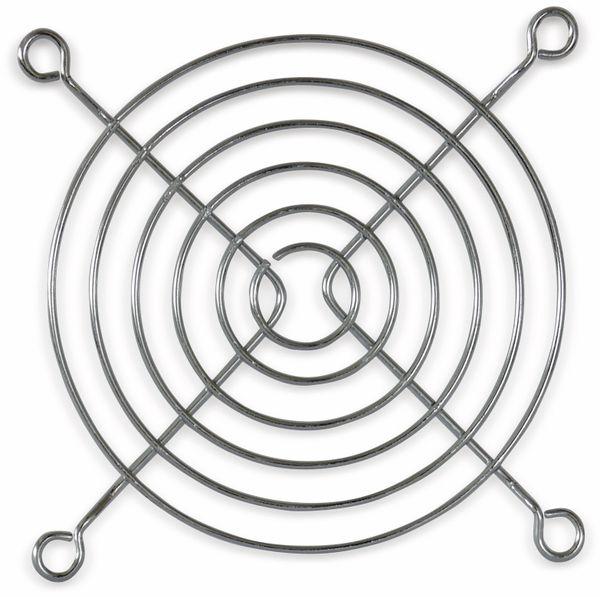 Lüftergitter 92x92 mm, Metall verchromt