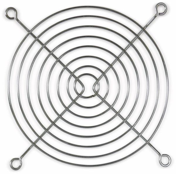 Lüftergitter 120x120 mm, Metall verchromt