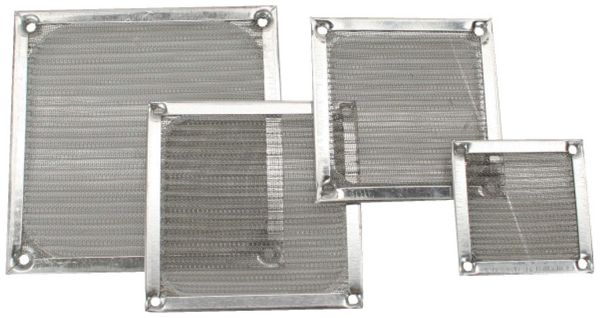 Lüftergitter INLINE, Aluminium Filter 80x80 mm