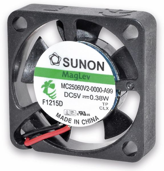 Axiallüfter SUNON MF25060V21000UA99, 25x25x6 mm, 5 V-
