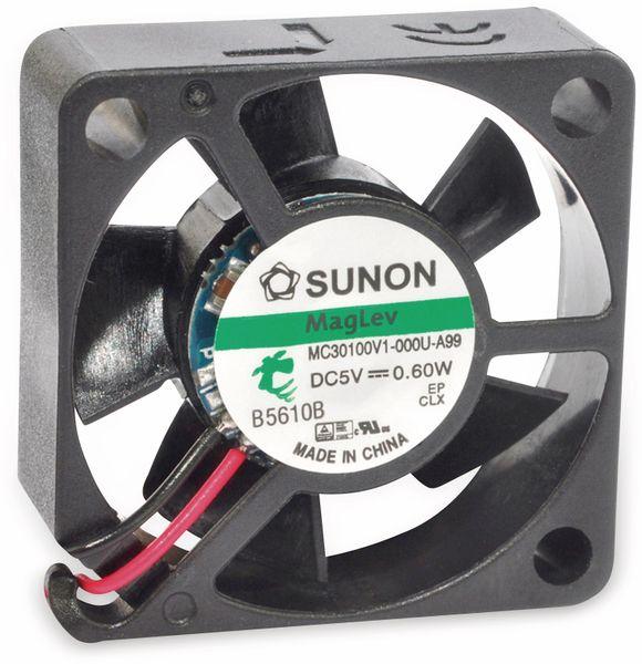 Axiallüfter SUNON MF30100V21000UA99, 30x30x10 mm, 5 V-