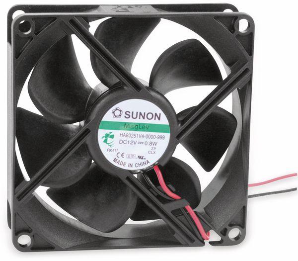 Axiallüfter SUNON HA80251V41000UA99, 80x80x25 mm, 12 V-
