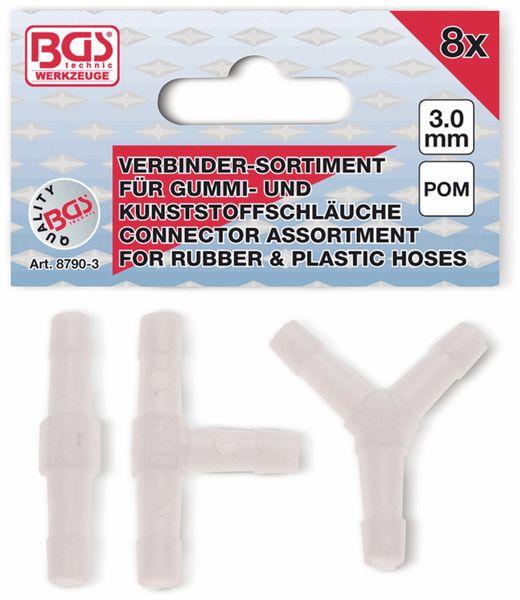 Schlauch-Verbinder-Sortiment 3 mm, 8-teilig - Produktbild 2