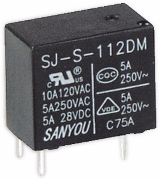 Relais SANYOU SJ-S-112DM, 12 V-, 1 Schließer