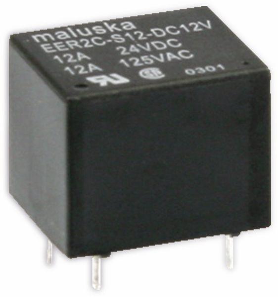 Miniatur-Leistungsrelais MALUSKA EER2C-S12-DC12V 12 V-, 1 Wechsler