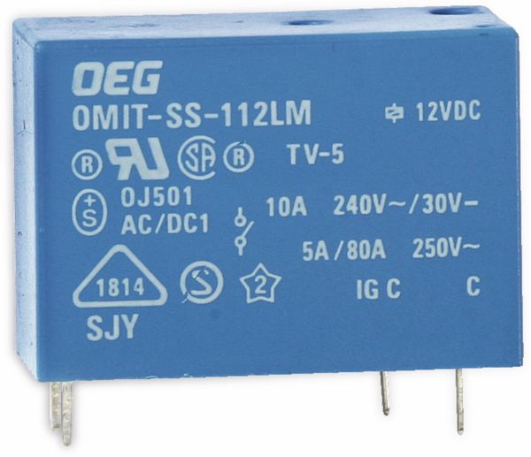 Print-Leistungsrelais OEG OMIT-SS-112LM, 12 V-