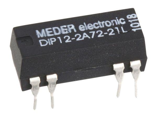 Reedrelais MEDER DIP12-2A72-21L