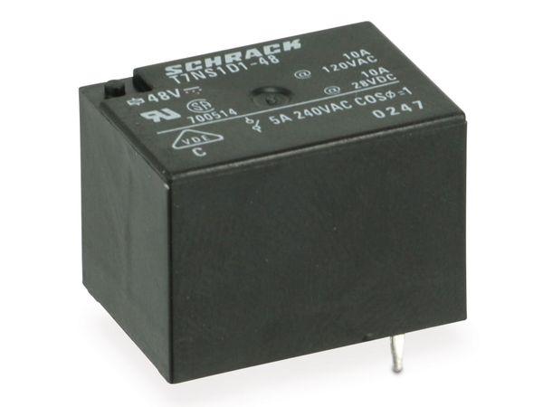 Relais SCHRACK T7NS1D1-48, 48 V-, 1 Schließer