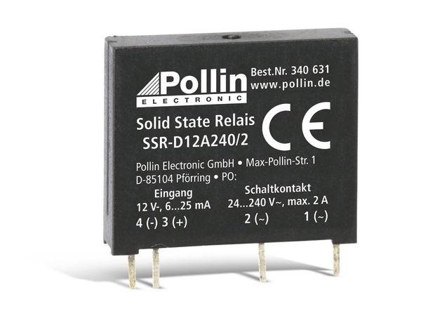 Solid State Relais SSR-D12A240/2, 12 V-, 2 A/240 V~