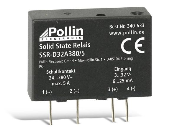 Solid State Relais SSR-D32A380/5, 3...32 V-, 5 A/380 V~ - Produktbild 1