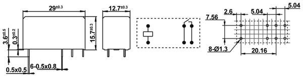 Printrelais HONGFA HF115F/012-1H3B - Produktbild 2