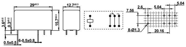 Printrelais HONGFA HF115F/024-1Z3B - Produktbild 2