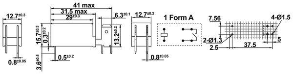 Printrelais HONGFA HF115F-Q/012-1HT - Produktbild 2