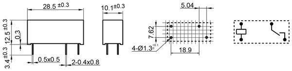 Printrelais HONGFA HF118F/024-1H5 - Produktbild 2