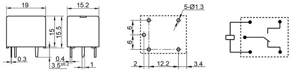 Printrelais HONGFA HF3FD/024-ZTF - Produktbild 2
