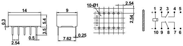 Printrelais HONGFA HFD31/012 - Produktbild 2