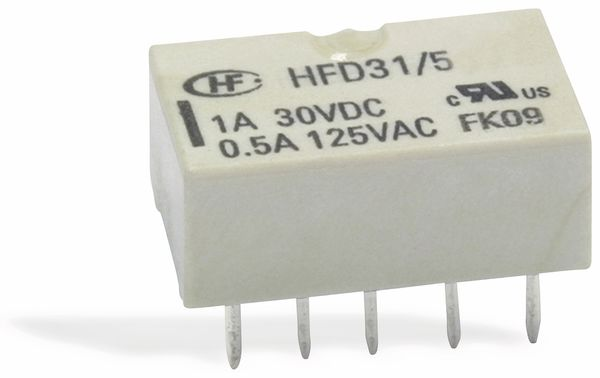 Printrelais HONGFA HFD31/012-L1, bistabil - Produktbild 1
