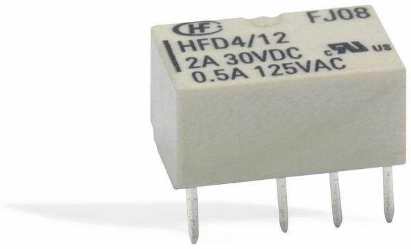 Printrelais HONGFA HFD4/012-L, bistabil