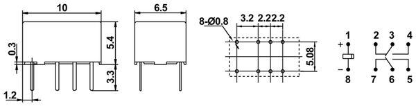 Printrelais HONGFA HFD4/024 - Produktbild 2