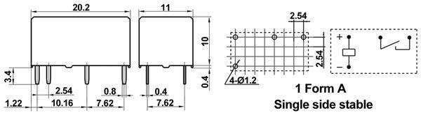 Printrelais HONGFA HFE8/024-1HT - Produktbild 2
