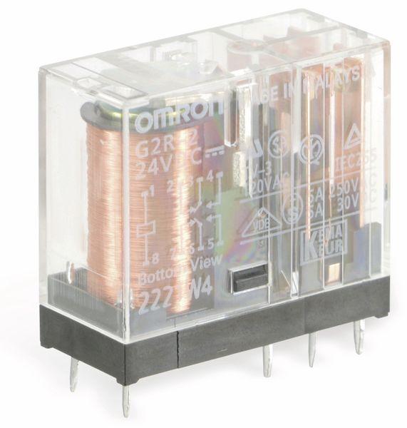 Relais OMRON G2R-2, 24 V-, 5 A, 2 Wechsler