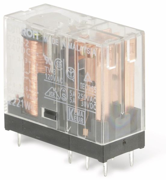 Relais OMRON G2R-2, 24 V-, 5 A, 2 Wechsler - Produktbild 2